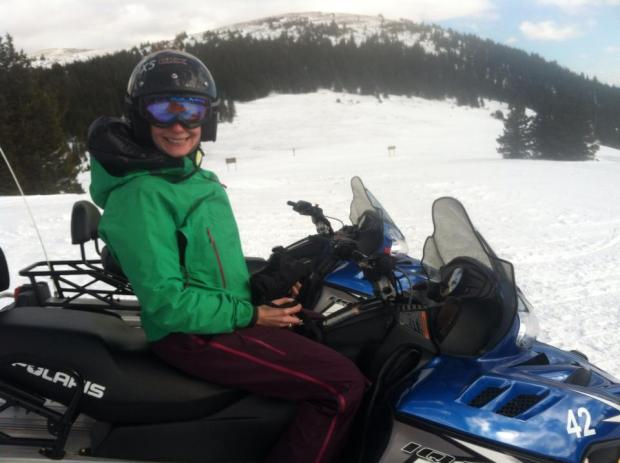 Yep, that's me on a snowmobile