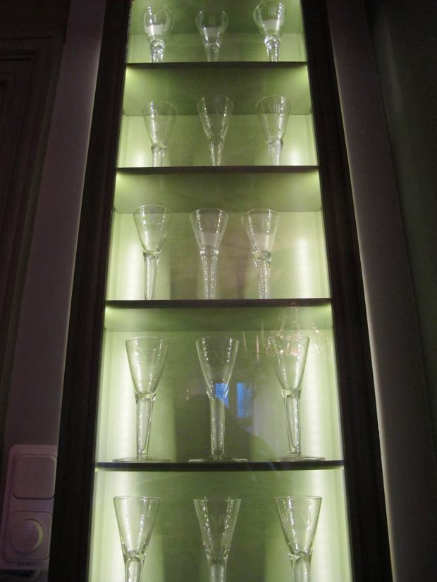 The 18 chalices of the members of the Swedish Academy