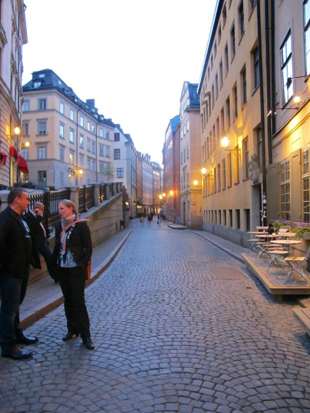 Lovely old European streets. This used to be the city wall to protect Stockholm from invaders to the East.