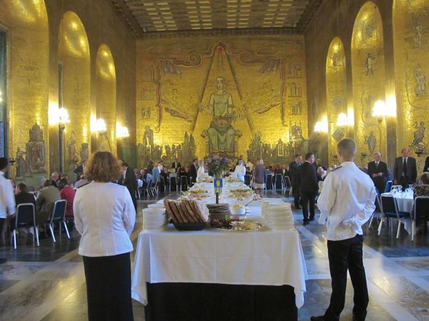 We enjoyed an exceptional buffet where the Nobel Laureates celebrate