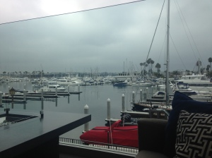 Why yes, I will sip coffee and read the New Yorker on a cozy couch looking at Marina Del Ray with my hubby at the Ritz.