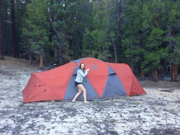 Our awesome new Big Agnes tent. We have a seed pod and were jealous of our friends when car camping so last year used our REI friends and family discount to pick up this bad boy. There are so many things that are so amazing about this tent!